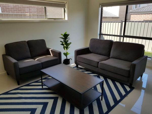 Apartment 2 Seater Fabric Lounge Suite