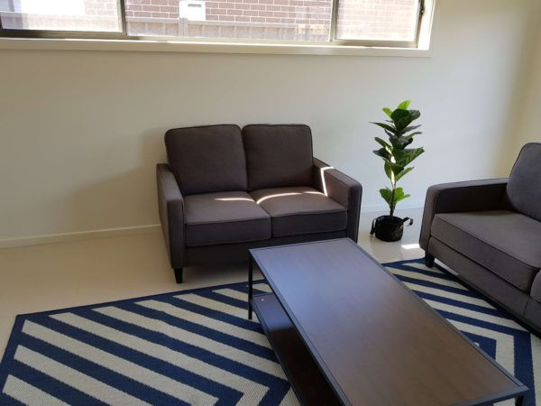 Apartment 2 Seater Fabric Lounge Suite