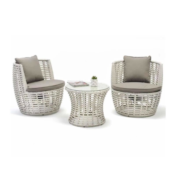 LUCA 3 PIECE PATIO SET White