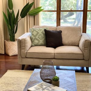Margaret Plush 2 Seater Fabric Lounge Suite