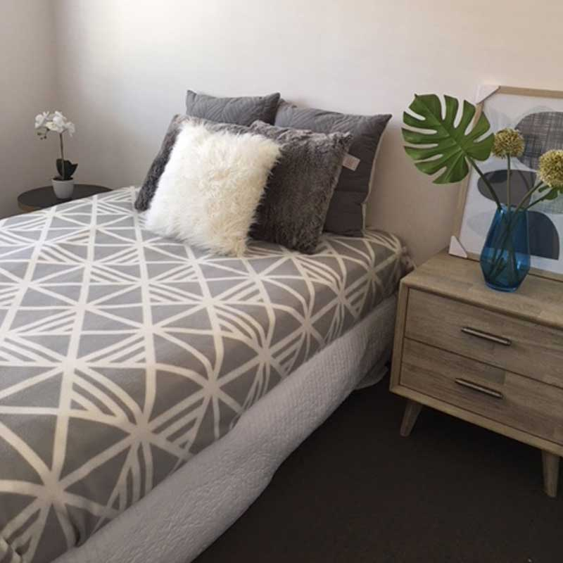 Seattle Bed Side Styled Table - Click on Rentals