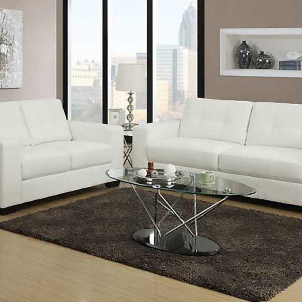 Tara 3 and 2 Seater White - Click on Rentals