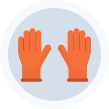 Gloves Icon - Click On Rental