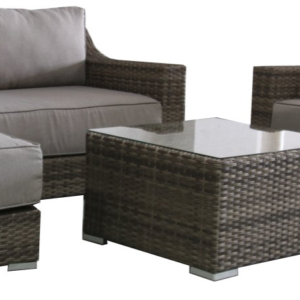 Avalon 3 Pce Outdoor Lounge with Chaise & Coffee Table