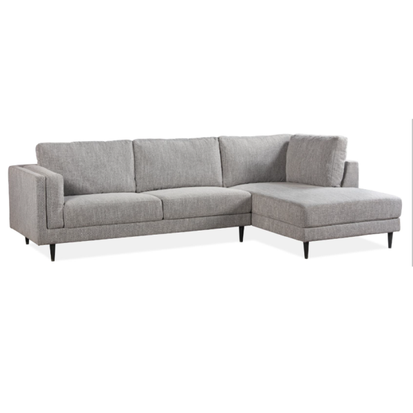 Farina Lt Grey Chaise Sofa - Click On Rental