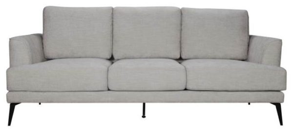Lucie Linen 3 Sofa - Click On Rental