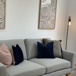 Chevron 3 Seater Fabric Lounge Suite