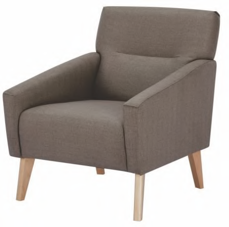 Evie Armchair Coffee - Click on Rentals