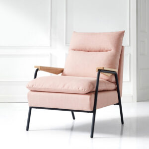 Marley Arm Chair with Timber Armrests