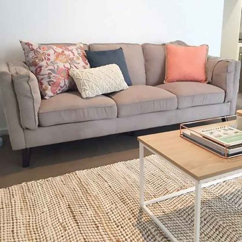 Cozy and Soft Sofa with Pillows - Click on Rentals