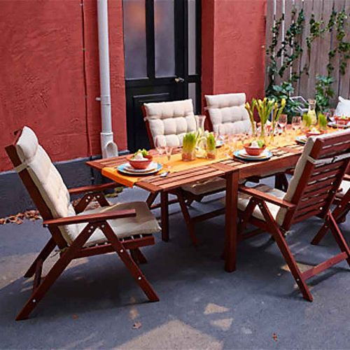 Entertainer drop leaf table outdoor brown